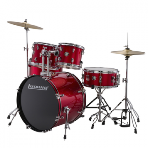 LUDWIG LC175 ACCENT DRIVE RED FOIL BATERIA