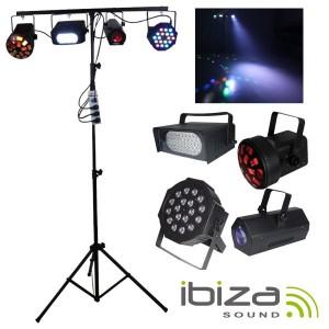 Ibiza Jogo de Luzes DJ Light 90 LED