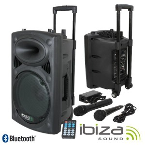 "Ibiza Coluna Amplificada 8"" 400w PORT8VHF-BT"