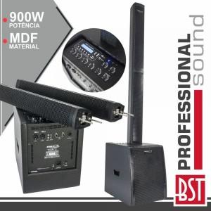 BST Conjunto Som Amplificado Pro 1.1 MDF 900W - THOR-12