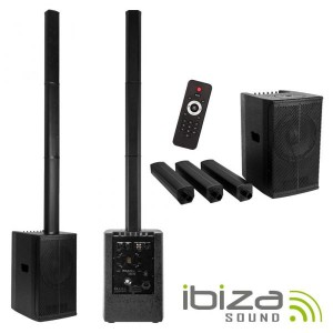 Ibiza Conj. Som Amplif. CSX10 Pro 1.1 400w Bt/Usb/Sd