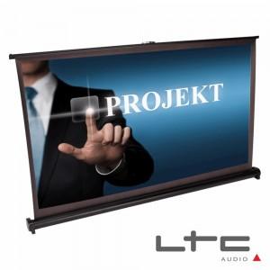 """Tela Projeção Portátil Desktop 40"""" C/ Suporte E Saco Ltc"""