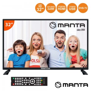 "TV LED 32"" HD 3 HDMI USB DVB-T/C MANTA (32LHN69D)"